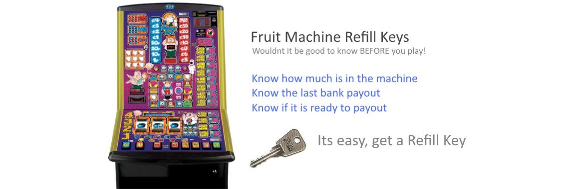 Fruit Machine Refill Keys